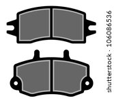 vector brake pad black...   Shutterstock .eps vector #106086536