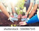 volunteering  charity  people... | Shutterstock . vector #1060867145