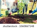 volunteering  charity  people... | Shutterstock . vector #1060867148