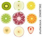 vector collection of fresh... | Shutterstock .eps vector #106087382