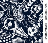 abstract seamless football...   Shutterstock .eps vector #1060883726