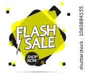flash sale  banner design... | Shutterstock .eps vector #1060884155