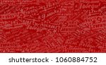 seamless red background may 9 ... | Shutterstock . vector #1060884752