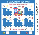 shadow matching game. find the... | Shutterstock .eps vector #1060887596