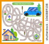 find the right path from car to ... | Shutterstock .eps vector #1060889108