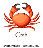 crab   aquatic animal. vector... | Shutterstock .eps vector #1060889282