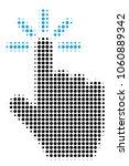 click halftone vector icon....