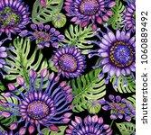 beautiful large vivid purple... | Shutterstock . vector #1060889492