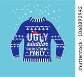 ugly christmas party sweater | Shutterstock .eps vector #1060892942