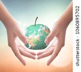world environment day concept ... | Shutterstock . vector #1060895702