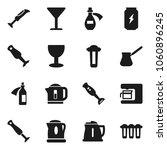 flat vector icon set   kettle... | Shutterstock .eps vector #1060896245