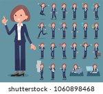 flat type black jacket pants...   Shutterstock .eps vector #1060898468