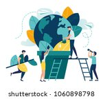 vector flat illustration ... | Shutterstock .eps vector #1060898798