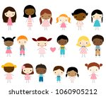 cute group of stick figures... | Shutterstock .eps vector #1060905212