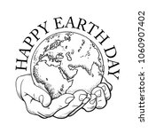 happy earth day typography.... | Shutterstock .eps vector #1060907402