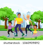 vector illustration of happy... | Shutterstock .eps vector #1060909892