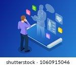 isometric healthcare ... | Shutterstock .eps vector #1060915046