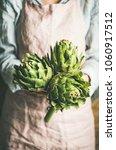 female farmer wearing pastel... | Shutterstock . vector #1060917512
