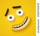3d render  cute childish face ... | Shutterstock . vector #1060920635