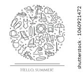 summer vacation banner with... | Shutterstock .eps vector #1060921472