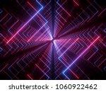 3d render  glowing lines  neon... | Shutterstock . vector #1060922462