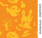 halloween seamless background 2 ... | Shutterstock .eps vector #106092425