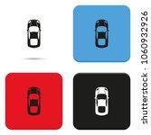 simple flat car top view vector ... | Shutterstock .eps vector #1060932926
