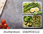 vegetarian meal prep containers ... | Shutterstock . vector #1060933112