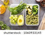vegan meal prep containers with ... | Shutterstock . vector #1060933145