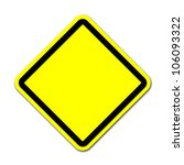 yellow blank sign on white... | Shutterstock . vector #106093322