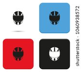 racing helmet flat vector icon. | Shutterstock .eps vector #1060938572
