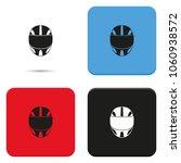 racing helmet flat vector icon. | Shutterstock .eps vector #1060938572