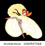 Beautiful Cancan Dancer With...