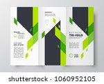 tri fold business brochure... | Shutterstock .eps vector #1060952105