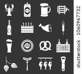 beer icons set vector white... | Shutterstock .eps vector #1060967732