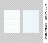 realistic squared and lined... | Shutterstock .eps vector #1060972676