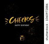 cheers. happy birthday.... | Shutterstock .eps vector #1060972886