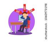 businessman depressed because... | Shutterstock .eps vector #1060973198