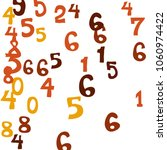 falling colorful numbers on... | Shutterstock .eps vector #1060974422
