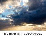 white  grey heavy fluffy ... | Shutterstock . vector #1060979012