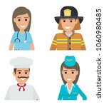 professions people vector icons ... | Shutterstock .eps vector #1060980485