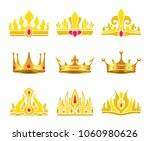kings and queens gold crowns... | Shutterstock .eps vector #1060980626