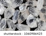 many pieces of beautiful clear... | Shutterstock . vector #1060986425