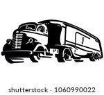 semi transport truck   retro... | Shutterstock .eps vector #1060990022