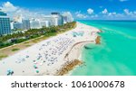 aerial view of south beach ... | Shutterstock . vector #1061000678