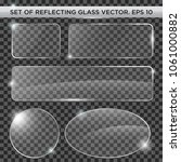 Set Of Reflecting Glass Template