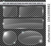 set of reflecting glass template | Shutterstock .eps vector #1061000882