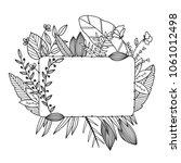 hand drawn sketch of banner... | Shutterstock .eps vector #1061012498
