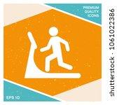 man on treadmill icon   Shutterstock .eps vector #1061022386