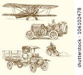 Vintage Vehicles   Hand Drawn...